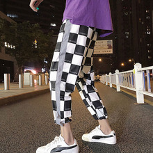 Men pants plus size 2019 new arrival spring and autumn hip hop thin loose male ankle-length teenager boy Korean style n05