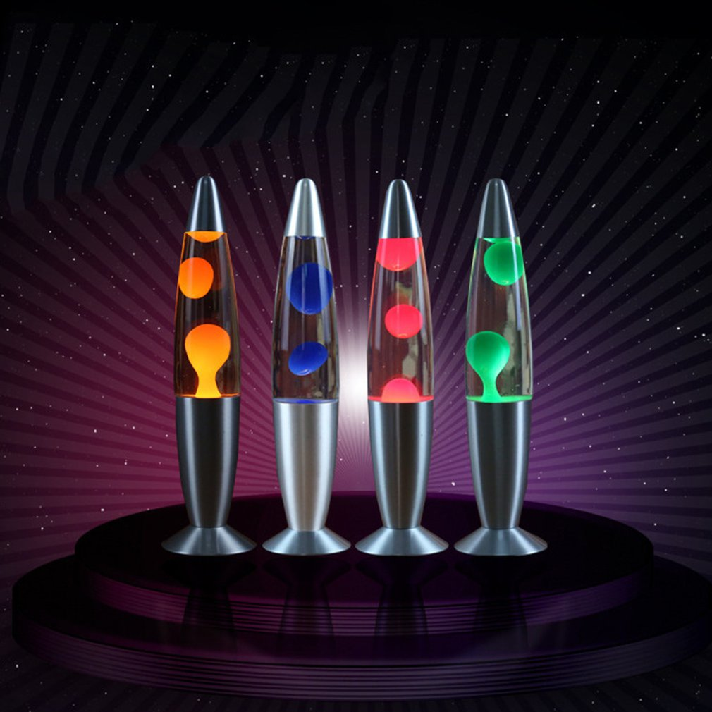 Wax Lamps Night Light Volcano Style Liquid Paste Light 110V Metal Base Jellyfish Nightlight Glare Incandescent Lighting Aluminum