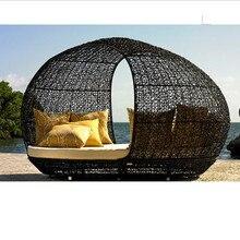 Новое поступление патио плетеная сад шезлонг шезлонги мебель