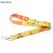 Patchfan Man vs Wild Bear Grylls anime keyring keychain neck lanyard webbing ribbon strap badge phone holder necklace A1684