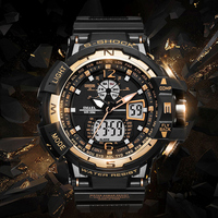 SMAEL Men Sports Watches Top Brand Quartz Digital Dual Time 50M Waterproof Fashion Military Wristwatches Male