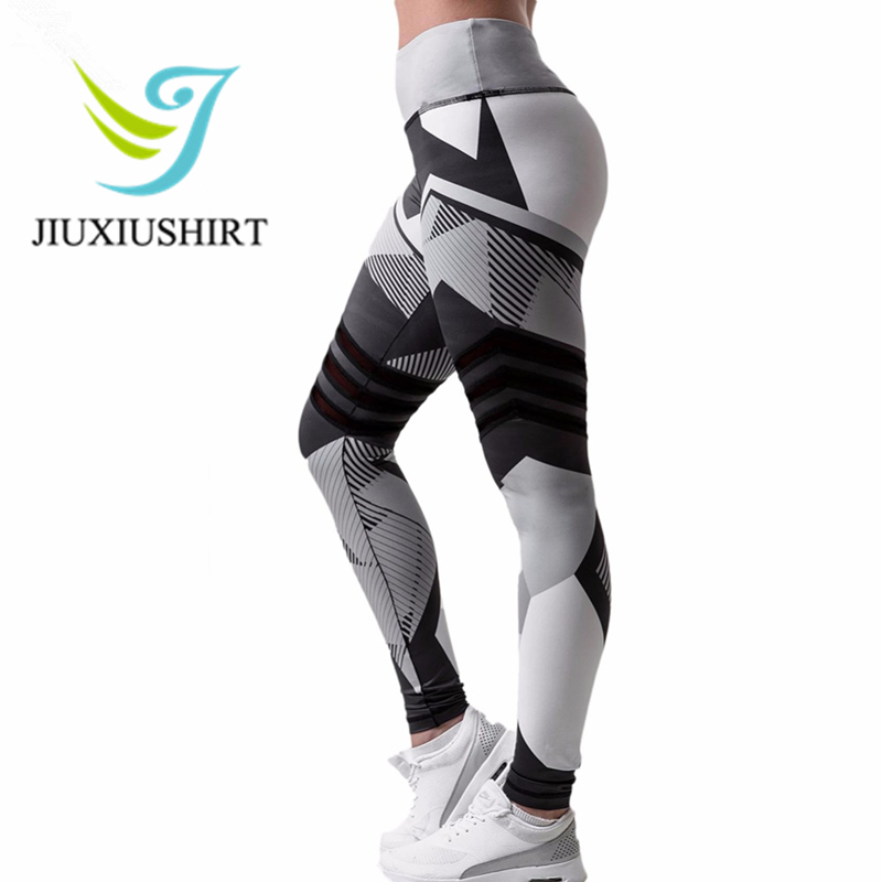JINXIUSHIRT Fitness Women Yoga Pants Print Tight Yoga Leggings Sportswear Running Sports Trouser Plus Size High Waist Yoga Pant