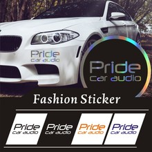 Car Stickers3D Reflective Waterproof Custom Sticker 9.6*24.5cm pieces car sticker pride audio funny stickers auto decals