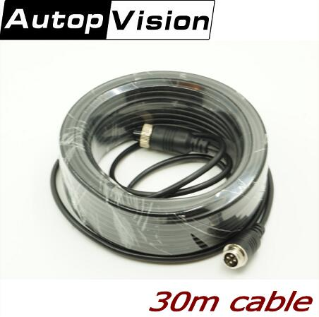 30M Audio Video Power Camera Cable BNC RCA 4-PIN aviation CCTV Cable CCTV Camera Cable bnc m rca p каркам