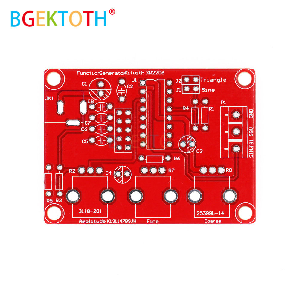 XR2206 DDS Signal Generator Sine//Triangle//Square Wave Frequency Adjustable DIY