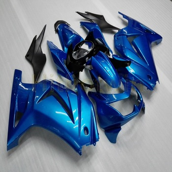 bolts+Custom Injection mold blue motorcycle article fairings for EX250 2008 2009 2010 2011 2012 250R