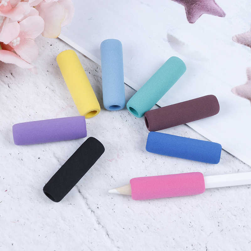 جديد الإسفنج قلم رصاص واقية غطاء حامل قبضة لينة شكل منحني لباد الهاتف
