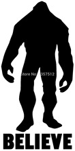 Wholesale 20 pcs/lot Bigfoot Sasquatch Swamp Ape Yeti Thing Belive Car Window Stckeir Auto Door Vinyl Decal 8 Colors(China)