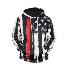 все цены на Men's Hoodies Sweatshirt Funny 3D Fashion Black White US Flag Printed Hoodie Men Women Pullovers Hooded Hoody Tracksuits Tops