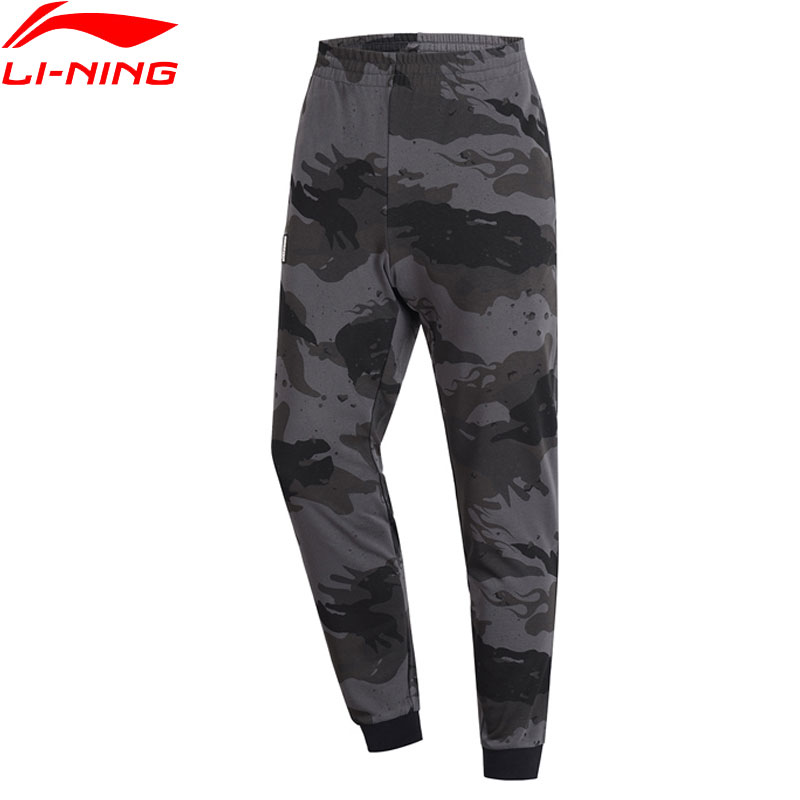 Li-Ning Men BAD FIVE Basketball Sweat Pants Camo 88% Cotton 12% Polyester Regular Fit li ning LiNing Sports Pants AKLP047 MKY458