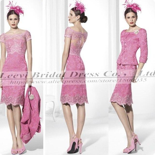 Vestido Madrinha ocasiones especiales , elegante rosa de dos piezas ...