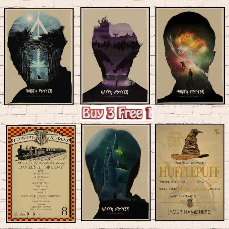 e1edaa0506 Limited Edition Harry Potter Movie art Poster Hogwarts School of Witchcraft  The latest harry potter films