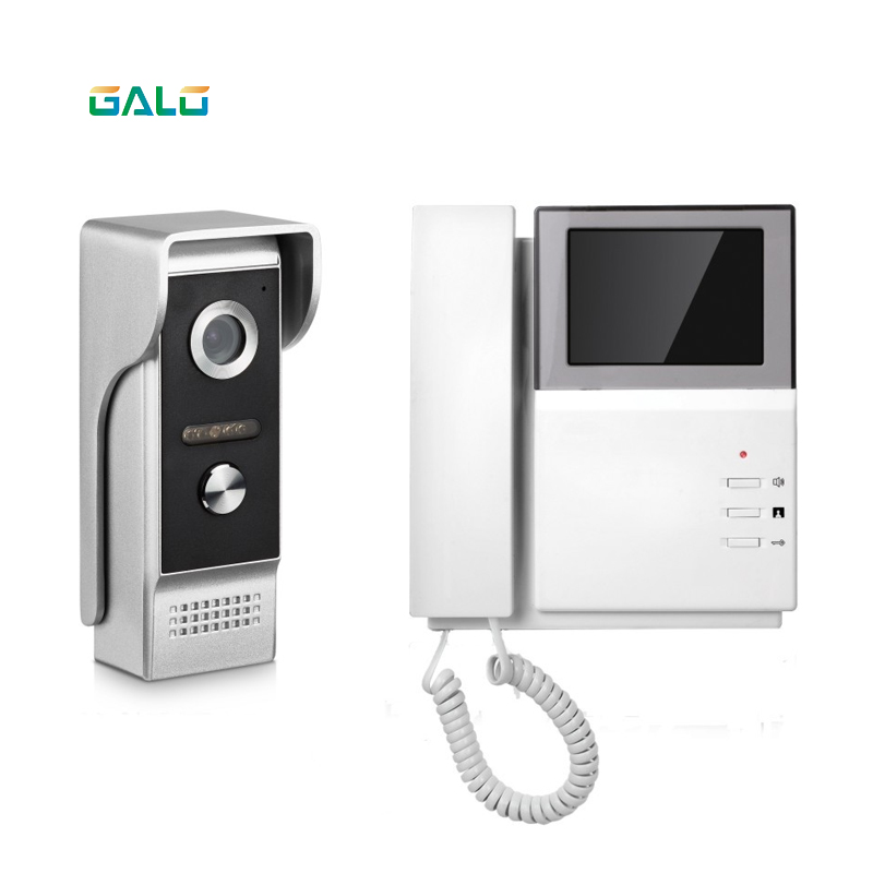 4.3 inch color lcd handset video door phone direct-call analog apartment video intercom4.3 inch color lcd handset video door phone direct-call analog apartment video intercom