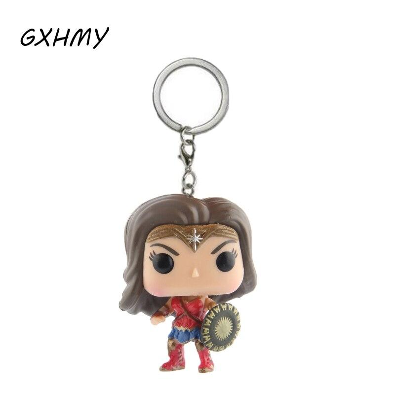 Elsadou DC Super Hero Wonder Woman фигурки детей игрушка-брелок