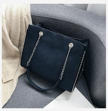CROWDALE Chain shoulder bag Famous designer rivet messenger Women luxury diagonal package bags for women 2019