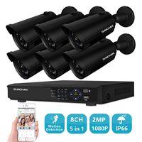 SUNCHAN 1080P 8CH AHD DVR Kit 2 0 Megapixel HD 6 1080P DIY Home Security Camera