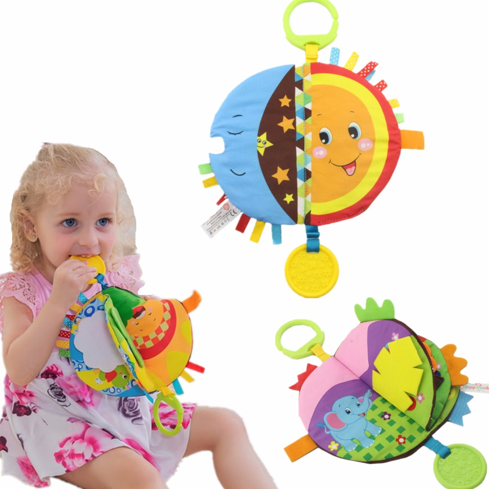 Baby Toys Soft Cloth Books Baby Intelligence Development Infant Educational Stroller Rattle Toys Baby Toys 30% Off(China)