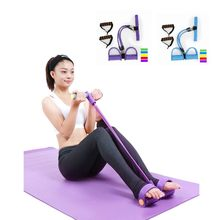 3-functional fitness equipment Three tubes Pedal stretch puller Sit-ups men women trainer Yoga Pull rope Resistance Bands l5521(China)