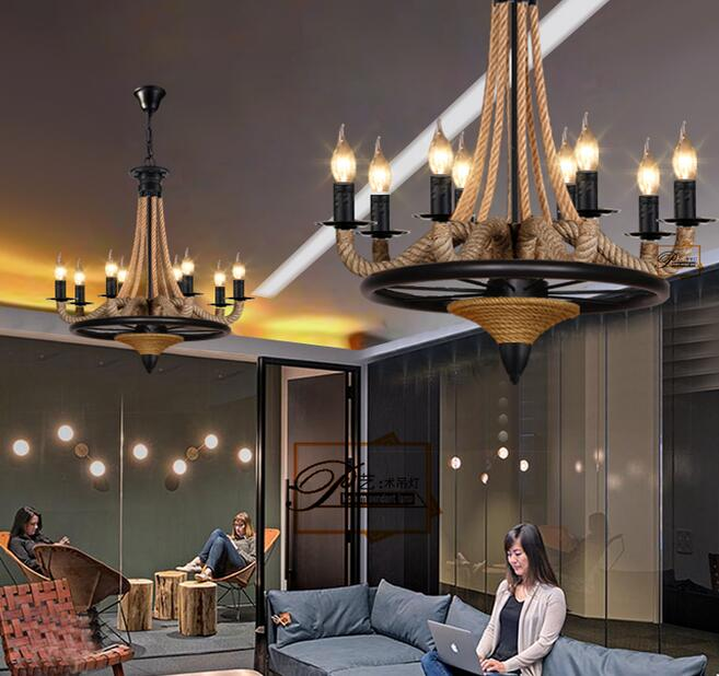 lamps American retro Industrial Wind Village hemp clothing store lighting chandelier lighting living room restaurant caf ernst jan van prooye the netherlands 2028
