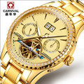 2016Carnival automatic mechanical watch diamond full steel sapphire waterproof luminous male luxury famous brand watches relogio