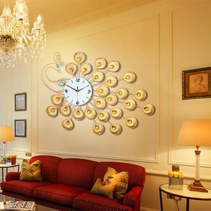 decoration dies Decorative Wall clock European style living room ...