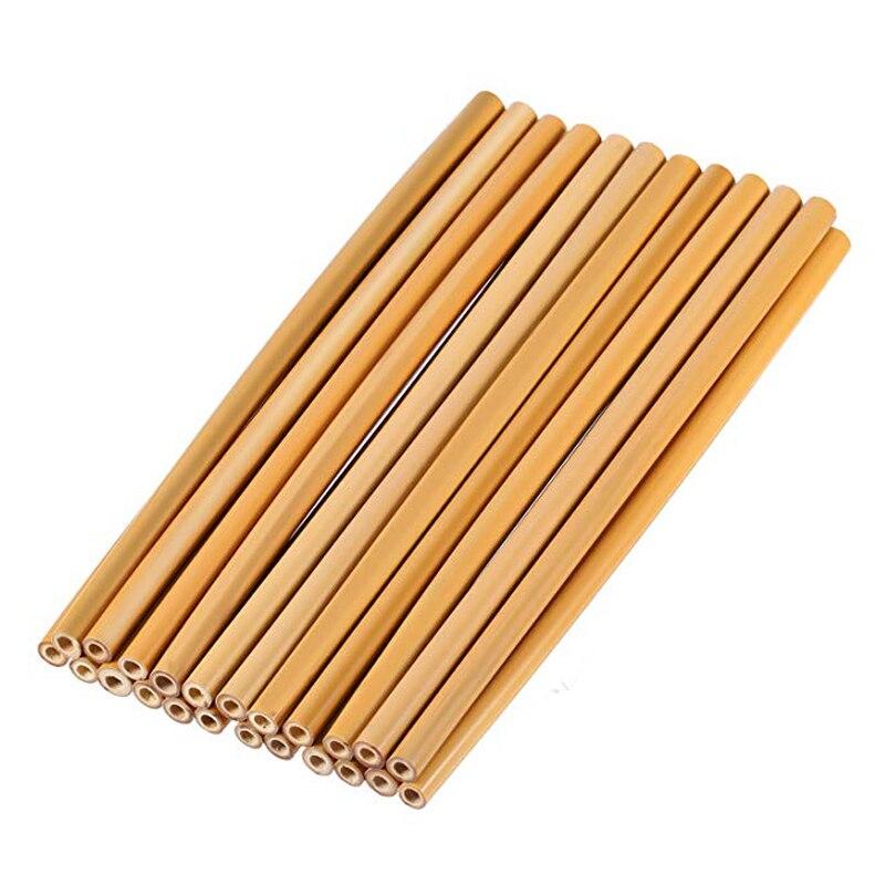 4 шт./компл. бамбуковая соломка многоразовые соломы 23 см из натурального бамбука соломинки натуральный деревянные соломки для вечеринки, дн...