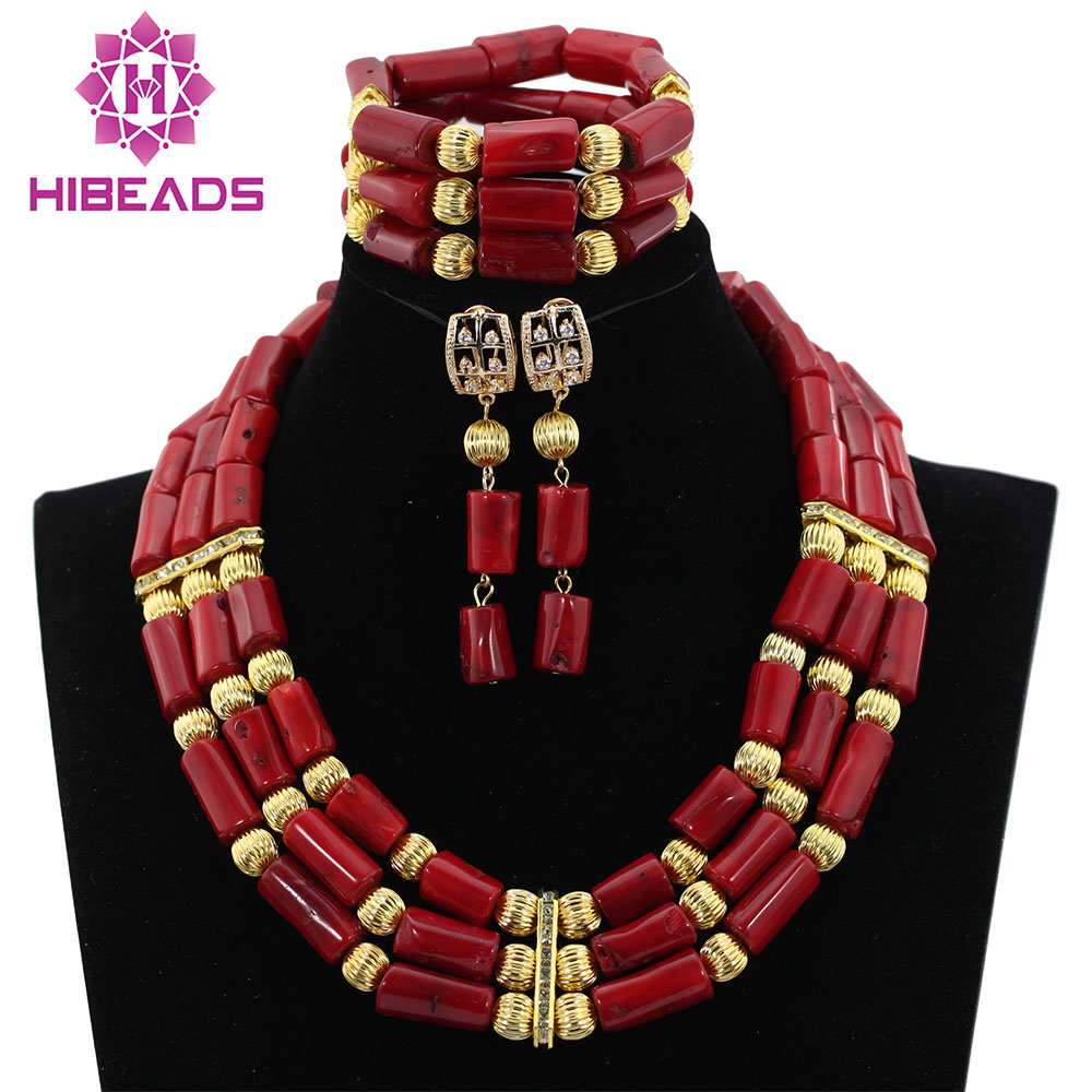Natural Real Coral Beads Set 2017 Latest Nigerian African Wedding ...