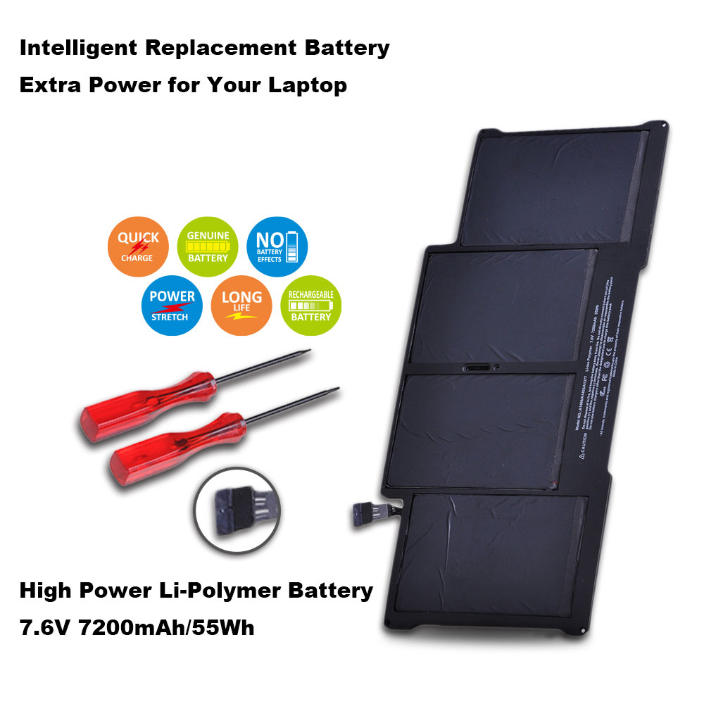"""7200mAh 7.6v/55wh A1405 laptop Battery for Apple MacBook Air 13"""" A1466 A1377 A1369 Late 2010 Mid 2011 2013 Early 2014 2015"""