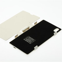 3500mAh External Backup Battery Charger Flip Leather Case For Sony L39h Xperia Z1 Power bank Cover with Kickstand Black & White