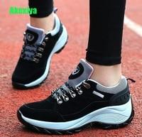 Akexiy Designer Fashion Autumn Wedges Shoes For Women Platform Sneakers Womens Casual Female Black Shoes Woman Footwear Wayfarer