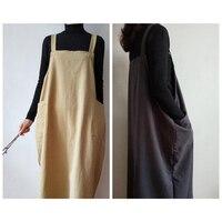 Retro Cotton linen aprons for women man unisex kitchen apron Commercial Restaurant Home Bib cleaning apron Coffee overalls