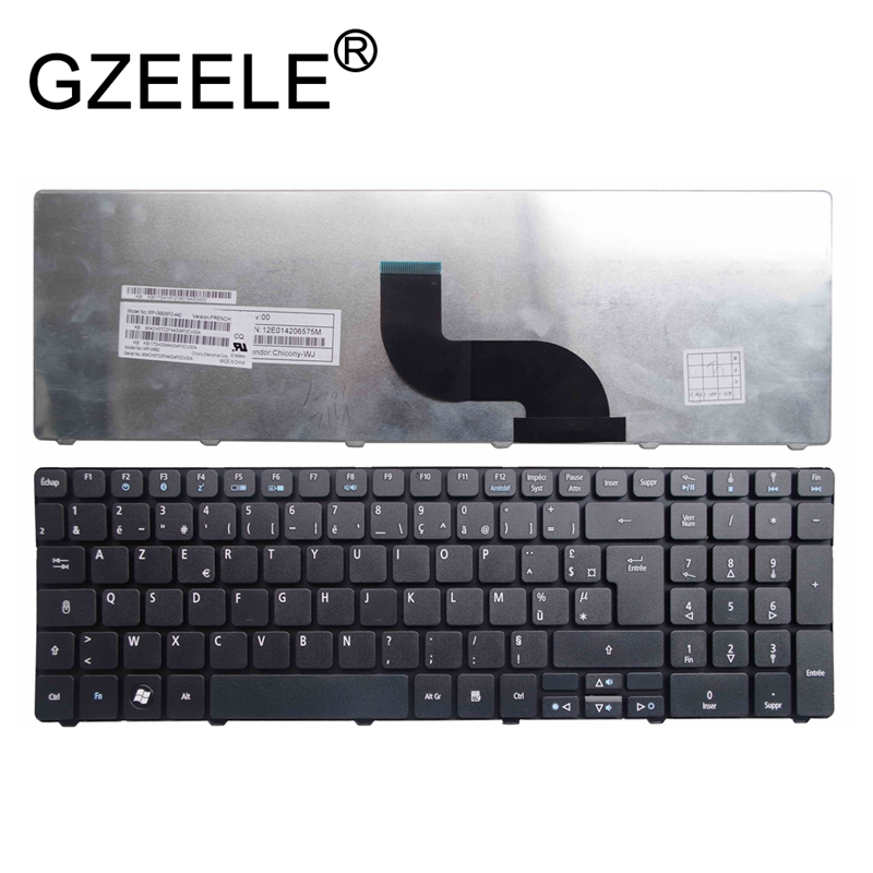 GZEELE French Keyboard for <font><b>Acer</b></font> <font><b>Aspire</b></font> 5538Z 5538ZG 5539Z 5542Z 5542ZG P5WE0 5745ZG 8942 <font><b>8942G</b></font> 5736Z 5810TG FR AZERTY image