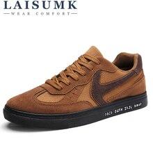 2019 LAISUMK Brand Men Canvas Shoes Fashion Trend Retro Breathable Casual Ankle Lace Up British Designer Sneakers
