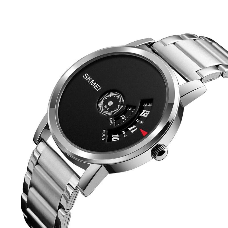 Quartz Watch Men Fashion Luxury Creative Steel Band Waterproof Casual Simple Style Men's Watches Relogio Masculino SKMEI 2018