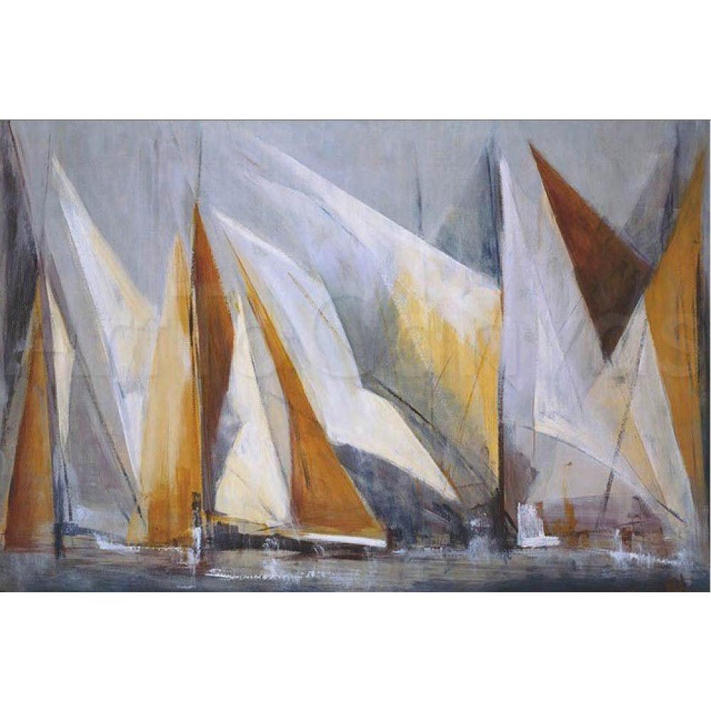 Sailboat Oil Painting On The Sea