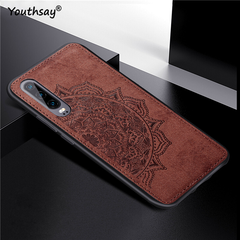 For Huawei P30 Case Cover 3D Luxury Cloth Fabric Cover ELE-L29 L09 Phone Case For Huawei Ascend P30 Cover For Huawei P30 Case