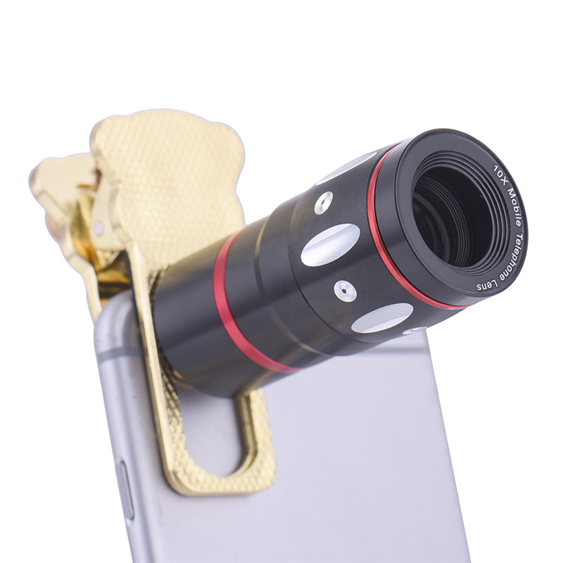 4in1 10x Telephoto Fish Eye Wide Angle+Micro Lens For Iphone 6 6s Samsung Galaxy S5 Camera Eye for iphone Xiaomi Samsung LG CE92 image