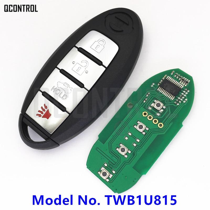 QCONTROL Smart Remote Key Fit For NISSAN TWB1U815 CWTWB1U815 Sunny Teana Sylphy Sentra Versa 315MHz With Chip