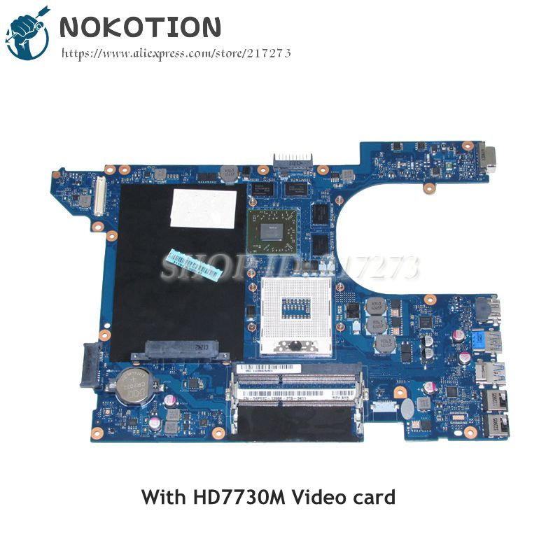 NOKOTION Laptop Motherboard For Dell inspiron 15R 7520 MAIN BOARD QCL00 LA-8241P CN-04P57C 4P57C 04P57C HD7730M DDR3 nokotion brand new qcl00 la 8241p cn 06d5dg 06d5dg 6d5dg for dell inspiron 15r 5520 laptop motherboard hd7670m 1gb graphics