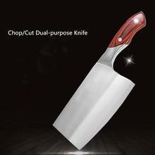 Freies Verschiffen LZB 4Cr13 Edelstahl Messer Hacken Knochen Fleisch Gemüse Dual-zweck Küchenmesser Cleaver Fleischmesser