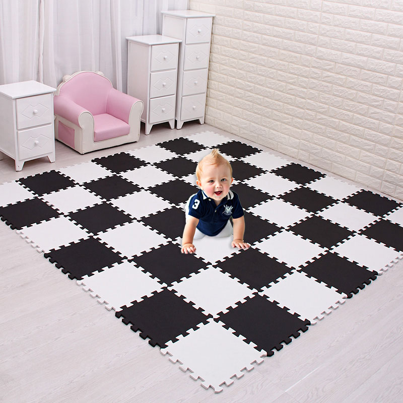 Meiqicool детский коврик-головоломка из пены EVA для детей/Блокировка упражнений плитка напольный ковер, каждый 29X29 см, напольный коврик плитка