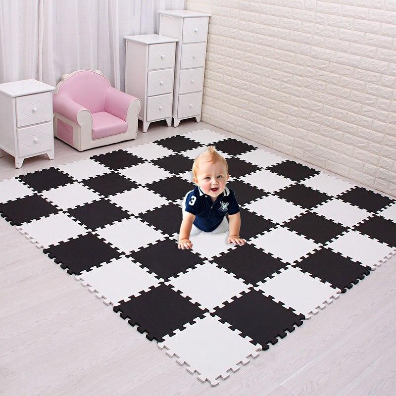 Tapis de Puzzle de jeu de mousse d'eva de bébé de meiqicool pour des enfants/tapis de tapis de plancher de tuiles d'exercice de verrouillage, chacun 29X29 cm, tuiles de tapis de plancher
