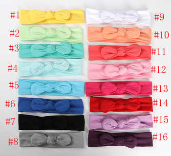 MengNa Top Quality Girl\'s Knot Bow Headband Newborn Cotton Headbands Kids Top Knotted Bow Headband 30pcs/lot 16 Color - DISCOUNT ITEM  18% OFF Mother & Kids