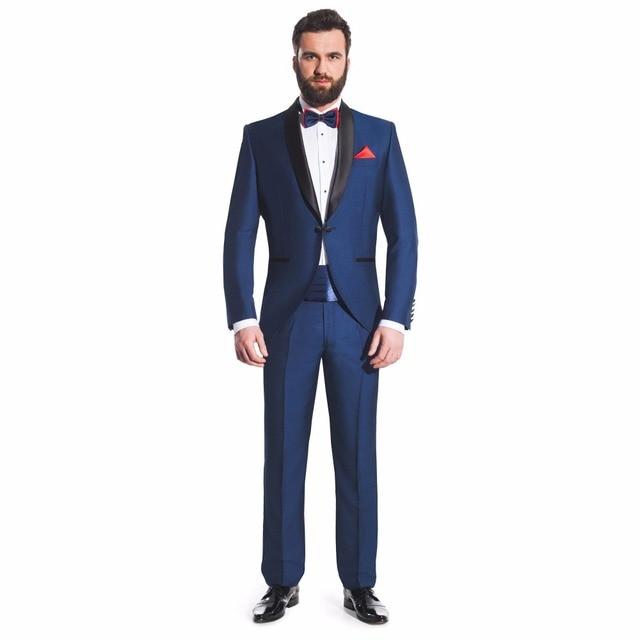 Azul marino Para Hombre Prieum Trajes Vestido Corto Mañana Trajes de Boda  Adaptan A Los Juegos 5c4449f67c6