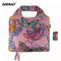 Polyester Shopping Bag Fashion Color Reusable Grocery Bags Lightweight Shopping Bag Foldable Einkaufstasche Borsa Spesa