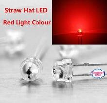 1000 stücke 5mm (4,8mm) stroh Hut LED Red Light Emitting Diode 5mm led diode Rot blau gelb weiß grün rosa RGB UVcolor LED dioden