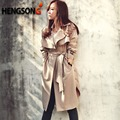 Мода Длинный Плащ пальто Для Женщин Осень зима Тренчи Верхняя Одежда Свободные Пальто Gabardina Mujer Траншеи NQ851770