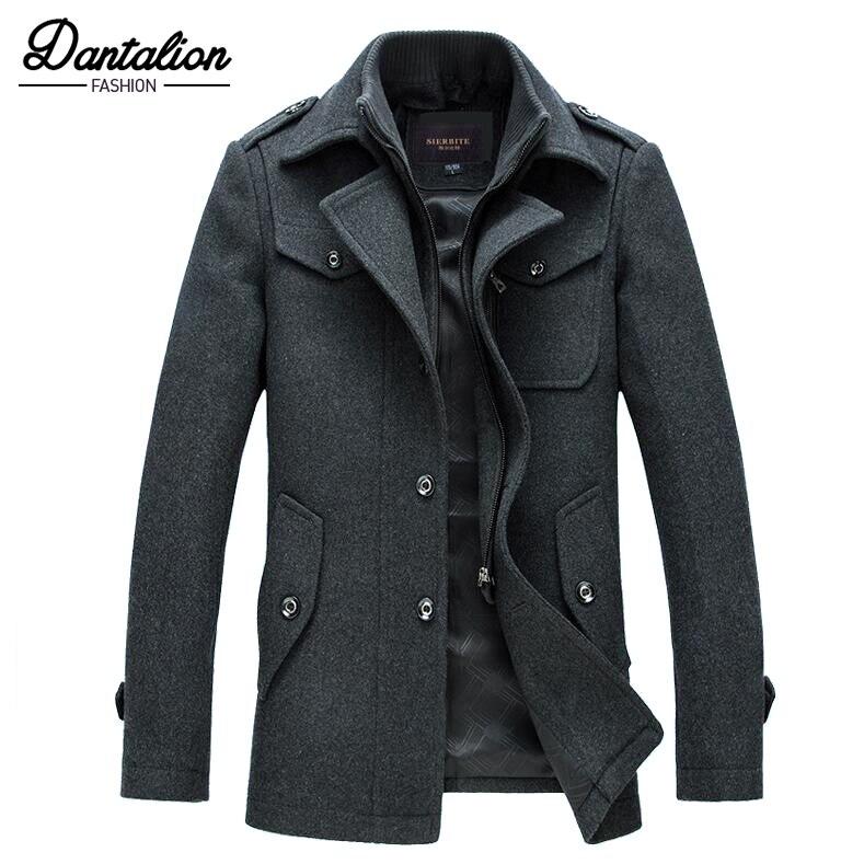 2018 мужская деловая куртка мужская куртка осень и зима новая мужская куртка тонкая секция костюм воротник Мужская куртка