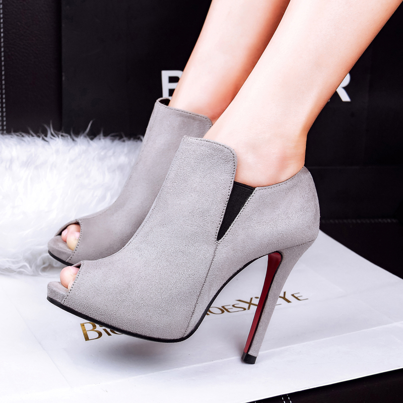 7a0677996bfbb US $21.0 |Fashion Sexy Velvet Open Toe Women Shoes Elegant Women Pumps Thin  Heels High Heels Women Boots Peep Toe Flock Female Shoes-in Women's Pumps  ...
