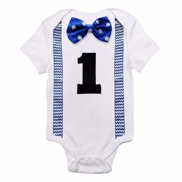 95d5ec0d0 placeholder Bebé recién nacido Ropa de niño de bebé mono tirantes corbata  poco Caballero trajes Primer Cumpleaños